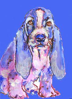He encontrado este interesante anuncio de Etsy en https://www.etsy.com/es/listing/205808463/basset-hound-painting-art-print-signed