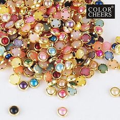 QINF 100PCS Colorful Pearl Metal Lipping Nail Art Decorations >>> Be sure to check out this awesome product.