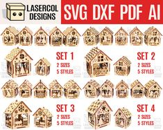 House Ornaments, Wooden Ornaments, Cnc Plans, Board Games For Kids, Laser Machine, Laser Cut Files, Plasma Cutting, Animal Games, Colorful Drawings