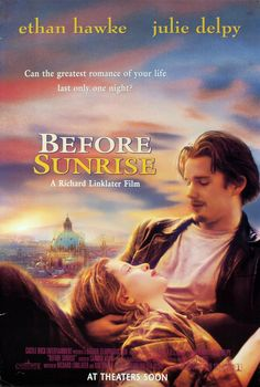 Before Sunrise is a 1995 American romantic drama film directed by Richard Linklater and written by Linklater and Kim Krizan. The film follows Jesse (Ethan Hawke), a young American man, and Céline (Julie Delpy), a young French woman, who meet on a train and disembark in Vienna, where they spend the night walking around the city and getting to know each other.