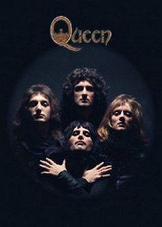 Music posters - Queen posters - Rare Queen poster features the classic Queen Bohemian Rhapsody image of the four members of Queen. Queen Banda, Queen Album Covers, Heavy Metal, Rock N Roll, Queen Albums, Queen Poster, Queens Wallpaper, Roger Taylor, Queen Photos