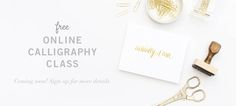 Free online calligraphy class