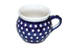 Blue Rose Polish Pottery: Stars Bell-Shaped Mug