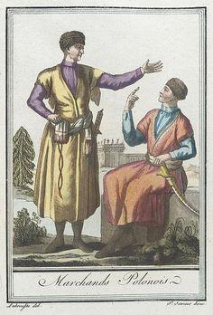 Jacques Grasset de Saint-Sauveur ,Costumes de Différents Pays, 'Marchands Polonois'  France, circa 1797