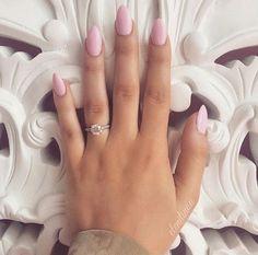 nice Pink almond nails...