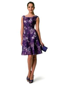 Purple David's Bridal Dress