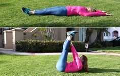 5. Straight-Leg Reach http://www.womenshealthmag.com/fitness/outdoor-abs-workout/slide/5