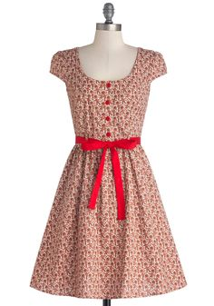 Cookie Cutter Cute Dress. Mix a touch of holiday cheer in with the icing and sprinkles when you flaunt this printed dress for an afternoon of delivering freshly baked cookies to your family and friends! #brown #modcloth