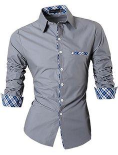 Camisa Casual/Social Fashion - Detalles a Cuadros Elegantes - en 6 Colores