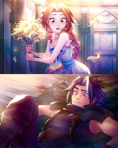 Zack x AerithYou can find Final fantasy and more on our website.Zack x Aerith Final Fantasy Xiv, Final Fantasy Cloud, Final Fantasy Characters, Final Fantasy Artwork, Fantasy Series, Arte Disney, Character Design Inspiration, Anime Manga, Cute Art