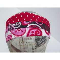 Valentine Headband Wardrobe Set of Three Heart Prints Pink Black Red ($12) ❤ liked on Polyvore featuring accessories and hair accessories