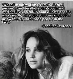 Jennifer Lawrence. Why is she so wonderful?! I want to be her friend, or her sister, or her assistant, or anything!