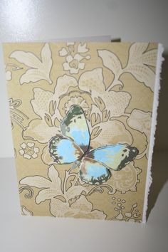 The Blue Beauty Notecard by StationeryStories.com