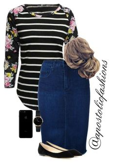 """Apostolic Fashions #1756"" by apostolicfashions on Polyvore featuring Nobody Denim, Jimmy Choo and Freedom To Exist"
