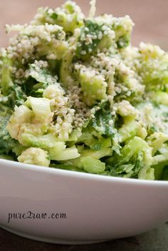 zuchini ans leek salad