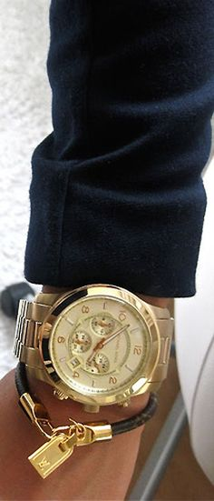 Omg! I want this Michael More watch and Louis Vuitton bracelet! Super Sassy :*
