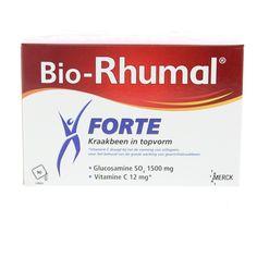 Merck Bio-Rhumal Forte Zakjes Gewrichten 90Zakjes  Bio-Rhumal Forte Glucosaminesulfaat 1500mg Zakjes. Bewegen zich verplaatsen de noodzakelijke dagelijkse bewegingen zonder moeite uitvoeren allemaal activiteiten die nauw verbonden zijn met de gezondheid van onze gewrichten. De soepelheid en beweegbaarheid hangen in grote mate af van de gezondheid van ons kraakbeen dat als kussen fungeert en zo alle schokken kan opvangen en dempen. Met de leeftijd door overgewicht door een ongeval of bij…