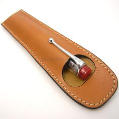 【UNITED BEES】Leather Pen Holder For 2 Pens