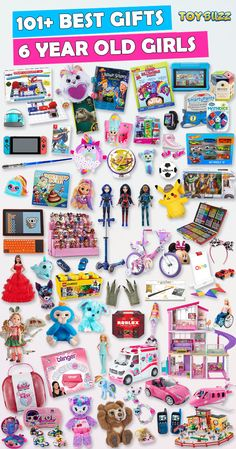 What are the best toys for 6 year old girls? With over 600 gifts ideas for 6 year old girls, we've rounded up the best gifts for 6 year old girls. Unique Gifts For Kids, Kids Gifts, Craft Gifts, 7 Year Old Christmas Gifts, Christmas Gift Guide, Xmas, Teenage Girl Gifts, Little Girl Gifts, Non Toy Gifts