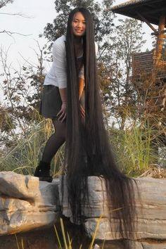 Super long hair
