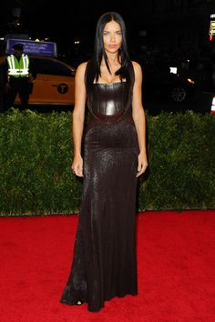 Met Ball 2014 | Adriana Lima in a gown by Givenchy Haute Couture by Riccardo Tisci