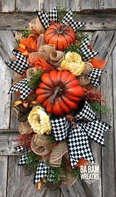 Reserved for Elizabeth Fall Wreath Fall Swag Autumn Swag Diy Fall Wreath, Autumn Wreaths, Holiday Wreaths, Thanksgiving Wreaths, Thanksgiving Decorations, Fall Swags, Fall Arrangements, Harvest Decorations, Deco Mesh Wreaths