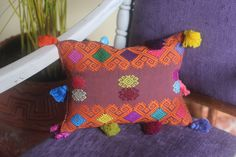 ❤Handcrafted pillow, by Magdalena´s women. Mexico.  ❤20x30cm, 30x50cm❤   https://farfromhome.com.mx/collections/babies/products/naranja-bonito