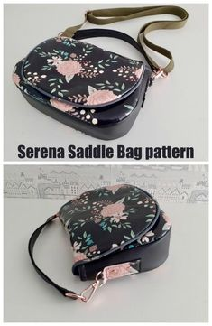 Serena Saddle Bag sewing pattern. A classic bag everyone needs in their wardrobe. A versatile DIY crossbody bag pattern which works well with a combination of different fabrics. We love the optional clip-on carrying handle to turn this into a snazzy handbag to sew. #SewModernBags #SewABag #BagSewingPattern #SewAPurse #PurseSewingPattern