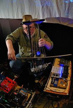 TIM KAISER is an experimental musician and circuit bender/instrument designer wizard from Minnesota. I have one of his bent gizmos in my collection, but need/want more. I saw him perform here in Boston and snapped some photos. - BTM +check out TIM's page at: http://tim-kaiser.org/ & gig photos at: http://billtmiller.com/11.18.08/ & gizmo info/pix of the retro TV he created that is in my bent collection at: http://circuitbending.com/timkaiser