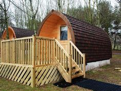 Beautiful camping pods by Scots Pod glamping in the UK garden pods