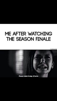 """that's me watching """"American horror story or The walking dead""""."""