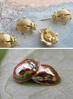 Golden Beetle pins