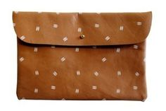 White Claws Pattern Leather Clutch by Falconwright