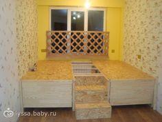 Подиум в детской. Отзовитесь кто делал. - на бэби.ру Batman Bedroom, Ideas Dormitorios, Diy Projects For Kids, Study Space, Teen Girl Bedrooms, Murphy Bed, Double Beds, Kidsroom, Decoration