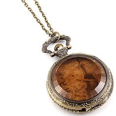 ANTIQUE  LOOK PARIS EIFFEL TOWER POCKET WATCH NECKLACE