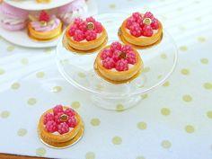 Raspberry Tartlet - 12th Scale Miniature Food