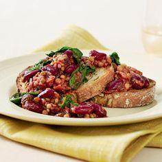 Chilli beans and lentils on toast | Australian Healthy Food Guide
