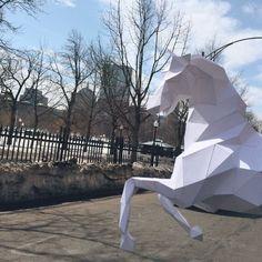 Wild Horse Head papercraft model DIY template