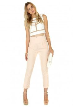 Missguided - Marilyn Cigarette Trousers In Blush