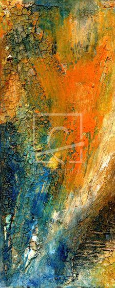 Strömung als Leinwand von ClaudiaG erhältlich bei Fine Art Print   malerei fantasie landschaft acryl farbenfroh experimentell expressiv abstrakt zeitgenössisch mischtechnik struktur landschaftsillusion verfremdet modern marode malerisch kunst hintergrund ambiente wohnraum vision effekt claudia gründler acrylmalerei moderne kunst unikat