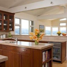 quartz countertops, shaker maple cabinets