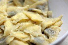 bake your slovak roots / slovenské korene: Pirohy Sheep Cheese, Goat Cheese, Slovak Recipes, New Recipes, Pasta Al Dente, Farmers Cheese, Plum Jam, Nutella, Macaroni And Cheese
