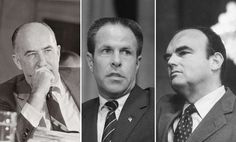 February 21,   1975: Watergate scandal sentencing  -    Former Attorney General John N. Mitchell and former White House aides H.R. Haldeman and John D. Ehrlichman are sentenced to 2 1/2 to  8 years in prison for their roles in the Watergate cover‐up ﴾each ended up serving a year and a‐half﴿.