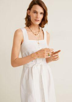 Damen Mango Outlet, Square Necklines, Manga, White Dress, Tank Tops, Cotton, Style, Dresses, Cheers