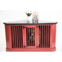 Cozy K 9 Double Wide Credenza Pet Crate Pets