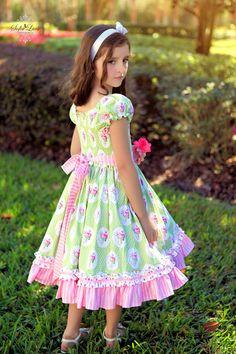 Josephine Spring Easter Sunshine Roses Dress AllegroFabrics Sewing Kit Sizes 12 months-6 years