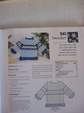 Plastic canvas pattern for ski sweater ornament