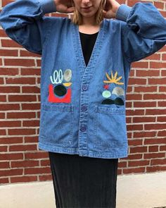 Embroidered denim jeans by Thousand Island