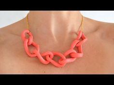 Collar eslabones en arcilla polimérica   Polymer clay chain necklace
