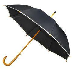 #Parasol Wykonany z poliestru 190T automatyczy parasol z drewnianą rączką. Brzeg obszyty jest taśmą odblaskową. Rozmiar: 1080.0x1080.0x905.0